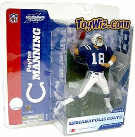 McFarlane Toys NFL Sports Picks Series 8 Action Figure Peyton Manning (Indianapolis Colts) Blue Jersey