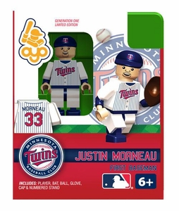OYO Baseball MLB Building Brick Minifigure Justin Morneau [Minnesota Twins]