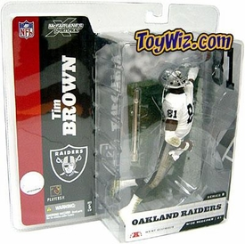 McFarlane Toys NFL Sports Picks Series 8 Action Figure Tim Brown (Oakland Raiders) White Jersey With Towel Variant BLOWOUT SALE!