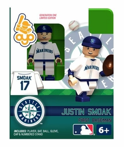 OYO Baseball MLB Building Brick Minifigure Justin Smoak [Seattle Mariners]