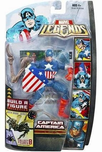 Marvel Legends Series 18 (Hasbro Series 3) Action Figure Captain America [Golden Age] [Brood Queen Build-A-Figure]