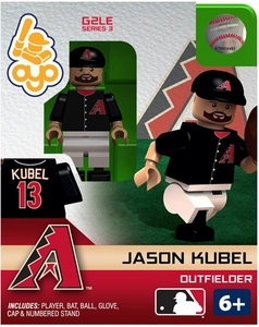 OYO Baseball MLB Generation 2 Building Brick Minifigure Jason Kubel [Arizona Diamondbacks]