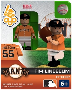 OYO Baseball MLB Generation 2 Building Brick Minifigure Tim Lincecum [San Francisco Giants]