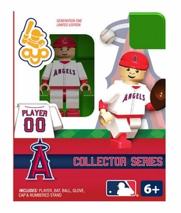 OYO Baseball MLB Building Brick Minifigure Los Angeles Angels Collectors Series Figure
