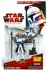 Star Wars 2009 Clone Wars Animated Action Figure CW No. 24 Captain Rex