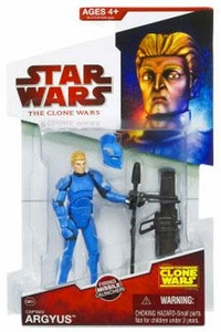 Star Wars 2009 Clone Wars Animated Action Figure CW No. 31 Captain Argyus