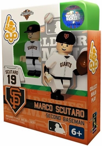 OYO Baseball MLB Building Brick Minifigure 2012 World Series Champions Marco Scutaro [San Francisco Giants]