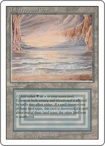 Magic the Gathering Revised Edition Single Card Rare Underground Sea