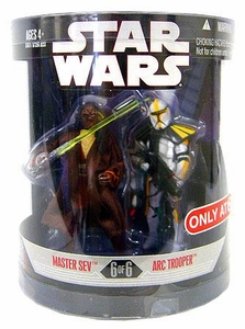 Star Wars Saga 2008 Exclusive Order 66 Action Figure 2-Pack Master Sev & Arc Trooper [6 of 6]