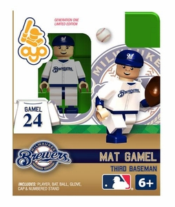 OYO Baseball MLB Building Brick Minifigure Mat Gamel [Milwaukee Brewers]