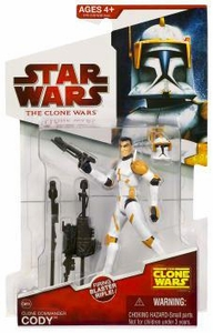 Star Wars 2009 Clone Wars Animated Action Figure CW No. 28 Clone Commander Cody
