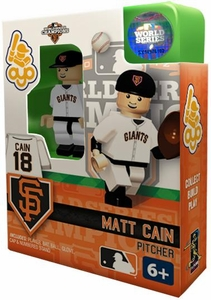 OYO Baseball MLB Building Brick Minifigure 2012 World Series Champions Matt Cain [San Francisco Giants]