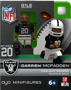 OYO Football NFL Building Brick Minifigure Darren McFadden [Oakland Raiders]