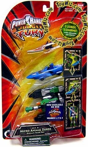 Power Rangers Jungle Fury Micro Animal Zord Figures Set B [Elephant, Shark & Bat]