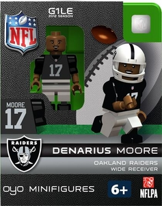 OYO Football NFL Building Brick Minifigure Denarius Moore [Oakland Raiders]