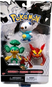 Pokemon Black & White Series 2 Basic Figure 3-Pack Darmanitan, Oshawott & Pansage