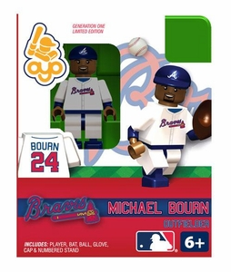 OYO Baseball MLB Building Brick Minifigure Michael Bourn  [Atlanta Braves]