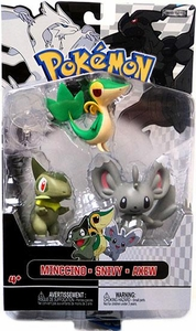 Pokemon Black & White Series 2 Basic Figure 3-Pack Minccino, Snivy & Axew