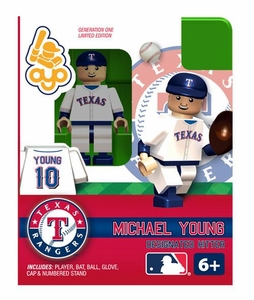 OYO Baseball MLB Building Brick Minifigure Michael Young [Texas Rangers]