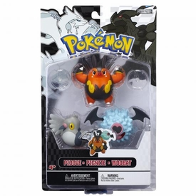 Pokemon Black & White Series 3 Basic Figure 3-Pack Pignite, Woobat & Pidove
