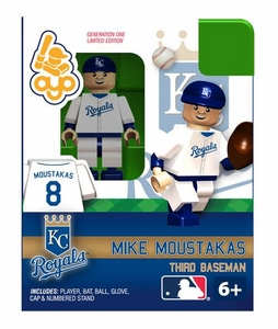 OYO Baseball MLB Building Brick Minifigure Mike Moustakas [Kansas City Royals]