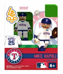 OYO Baseball MLB Building Brick Minifigure Mike Napoli [Texas Rangers]