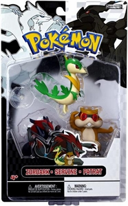 Pokemon Black & White Series 3 Basic Figure 3-Pack Servine, Patrat & Zoroark