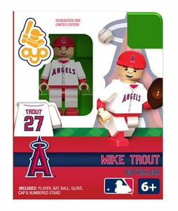 OYO Baseball MLB Building Brick Minifigure Mike Trout [Angels of Anaheim]