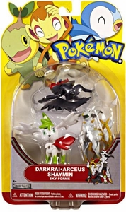 Pokemon Series 18 Basic Figure 3-Pack Darkrai, Arceus & Shaymin {Sky Forme}