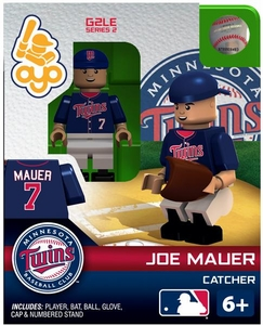 OYO Baseball MLB Generation 2 Building Brick Minifigure Joe Mauer [Minnesota Twins]