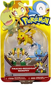 Pokemon Series 18 Basic Figure 3-Pack Pikachu, Regigigas & Manaphy