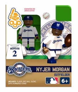 OYO Baseball MLB Building Brick Minifigure Nyjer Morgan [Milwaukee Brewers]