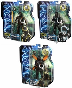 Tron Legacy Set of 3 Deluxe Feature 6 Inch Action Figures