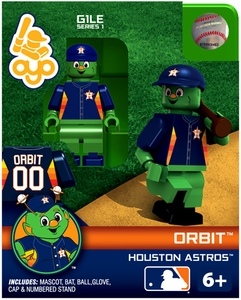 OYO Baseball MLB Building Brick Minifigure Orbit [Houston Astros Mascot]