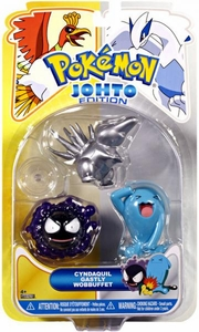 Pokemon Johto Edition Series 17 Basic Figure 3-Pack Silver Cyndaquil, Ghastly & Wobbuffet