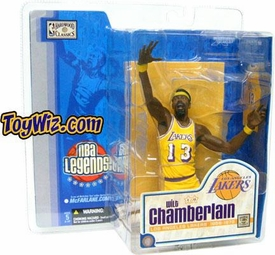 McFarlane Toys NBA Sports Picks Legends Series 1 Action Figure Wilt Chamberlain (Los Angeles Lakers) Yellow Uniform Variant