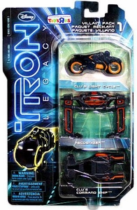 Tron Legacy Exclusive Die Cast VILLAIN Vehicle 3-Pack [Recognizer, Clu's Light Cycle & Clu's Command Ship]