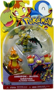 Pokemon Series 14 Basic Figure 3-Pack Ambipom, Buizel & Giratina {Altered Forme}