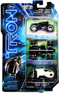 Tron Legacy Exclusive Die Cast HERO Vehicle 3-Pack [Vintage Light Cycle, Sam's Light Cycle & Off-Road Light Cycle]