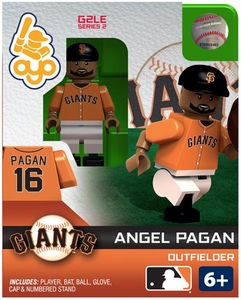 OYO Baseball MLB Generation 2 Building Brick Minifigure Angel Pagan [San Francisco Giants]