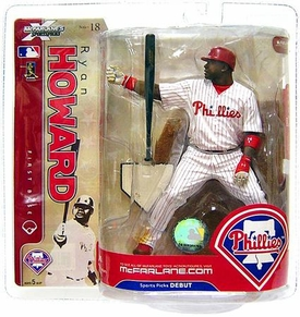 McFarlane Toys MLB Sports Picks Series 18 Action Figure Ryan Howard (Philadelphia Phillies) White Jersey