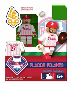 OYO Baseball MLB Building Brick Minifigure Placido Polanco [Philadelphia Phillies]