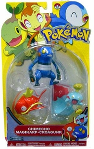 Pokemon Series 13 Basic Figure 3-Pack Chimecho, Magikarp & Croagunk