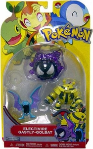 Pokemon Series 13 Basic Figure 3-Pack Electivire, Gastly & Golbat