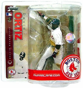 McFarlane Toys MLB Sports Picks Series 18 Action Figure David Ortiz (Boston Red Sox) White Jersey