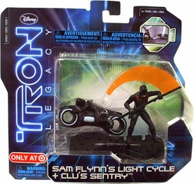 Tron Legacy Series 1 Exclusive Figure 2-Pack Sam Flynn's Light Cycle & Clu's Sentry