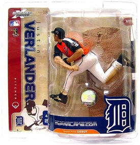 McFarlane Toys MLB Sports Picks Series 18 Action Figure Justin Verlander (Detroit Tigers) Orange & Black Team USA Variant