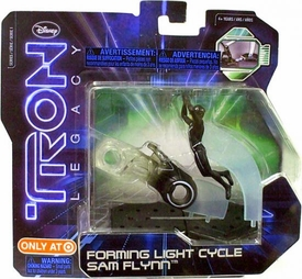 Tron Legacy Series 1 Exclusive Figure 2-Pack Forming Light Cycle Sam Flynn