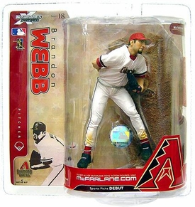 McFarlane Toys MLB Sports Picks Series 18 Action Figure Brandon Webb (Arizona Diamondbacks) White Jersey