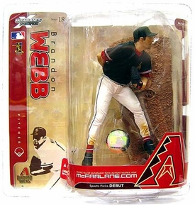 McFarlane Toys MLB Sports Picks Series 18 Action Figure Brandon Webb (Arizona Diamondbacks) Black Jersey Variant